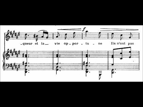 "Claude Debussy - ""Clair de Lune"" for voice and piano (audio + sheet music)"