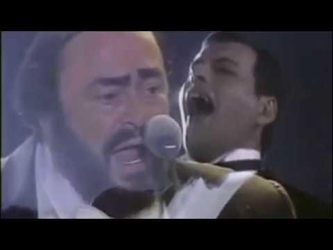 """FREDDIE MERCURY E LUCIANO PAVAROTTI IN """"NESSUN DORMA"""""""