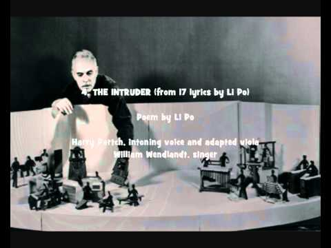 "Harry Partch: Selected songs from ""17 lyrics by Li Po"" (1930/1933) and ""11 Intrusions"" (1949/1950)"